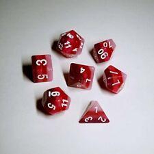 HD DICE rpg Red Pink Gradient  7 dice set D&D new!!!