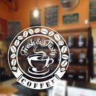 caffè ADESIVO MURALE caffè ristorante Vinile Adesivi da parete citazione cof2