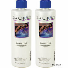 Spa Enzyme Clear - Natural Enzymes for Perfect Hot Tub Water - 2x 16oz. Bottles