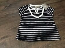 Next Baby Girls 3-6 Months Navy & White Top - Brand New With Tags