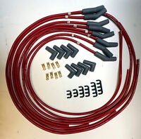FORD WINDSOR SPARK PLUG LEADS 8.5MM SILICON red male cap  or hei type cap