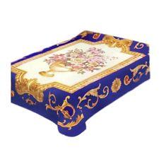 Solaron Flower Queen Bed Blanket, Blue