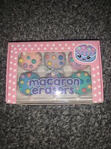 Smiggle Macaron Erasers Rubbers