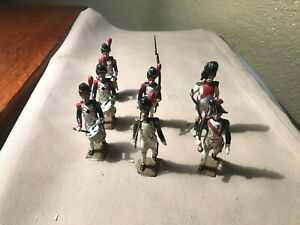MIGNOT 1950's French Lead Soldiers Lot of 7