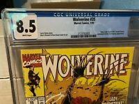 Marvel Comics Wolverine 35 CGC 8.5 WHITE Pages VF+