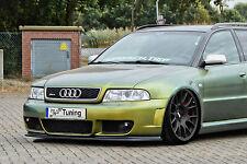 Spoilerschwert Frontspoilerlippe Cuplippe aus ABS für Audi RS4 B5 Avant mit ABE