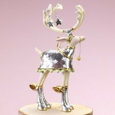 Patience Brewster MINI MOONBEAM COMET REINDEER ornament KRINKLES NIB CUTE!!
