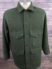 VTG Filson Mackinaw Cruiser Mens Hunting Coat Jacket Virgin Wool XL 48