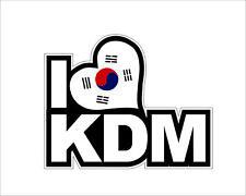 Korean Flag I Love KDM Sticker Decal Self Adhesive Vinyl Car Van Bumper Deocr