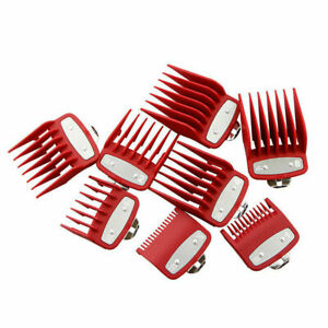8Pcs Hair Clipper Metal Clip Guides Limit Combs Guards Replacement Set For WAHL