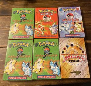(6 EMPTY) Vintage Pokemon Theme Deck Boxes Lot