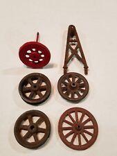 Antique Cast Iron FLAT Toy Wagon Wheels Tow Boom For Parts Lot Arcade Kenton