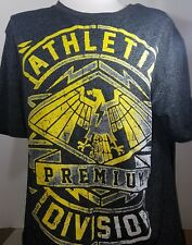 """Helix MEN'S MMA Tee T-Shirt """"PREMIUM ATHLETIC DIVISION"""" EAGLE Size XL Gray"""