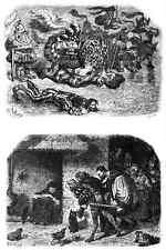 Gustave Dore gigantón Pantagruel 107 A4 Foto impresión
