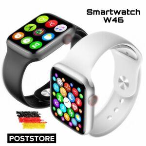 Smartwatch W46 Damen-Herren Pulsmesser Fitness Tracker für Android iOS Huawei
