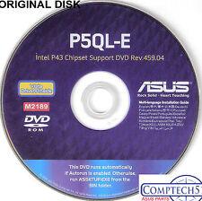 ASUS GENUINE VINTAGE ORIGINAL DISK FOR P5QL-E Motherboard Drivers Disk  M2189