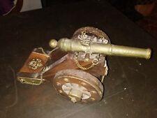 Cannone Napoleonico Francese Gribeauval Antico 1800 - 1900 legno bronzo Cannon