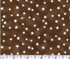 1 yard Lucky Stars Brown  Fabric