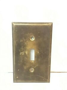 Vintage Antique Brass Toggle Wall Switch Plate