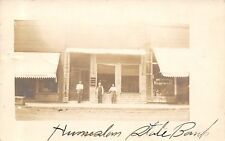 Humboldt IA State Bank Between Confectionary & Hardware~Facade Closeup 1914 RPPC