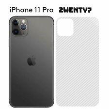 CLEAR iPhone 11 Pro Carbon Fibre Rear Back Protector Sticker Vinyl Skin Wrap