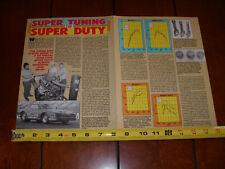PONTIAC 455 SUPER DUTY ENGINE  ORIGINAL 1989 ARTICLE
