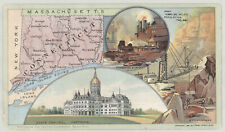1891 Youth's Companion Map of CONNECTICUT