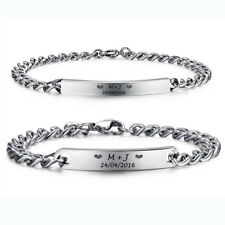 Personalized Name Free Engraved Couple Bracelets Custom Engraved Couple Jewelry