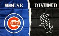 Chicago Cubs vs Chicago White Sox Flag 3x5 ft House Divided Man-Cave MLB Banner