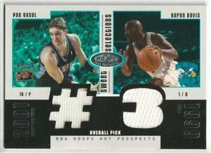 Pau Gasol / Baron Davis 2003-04 Hoops Hot Prospects Dual Game-Used Jersey /375