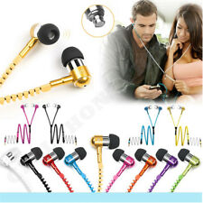 Zipper Wired 3.5mm Jack Earbuds Earphones In-Ear Stereo Headset With Microphone