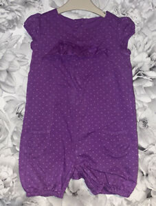 Girls Age 6-9 Months - M&S Shorts Playsuit