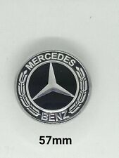 Logo Capot Mercedes AMG NOIR 57mm Emblème CLASSE C E CLK S