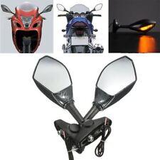 Carbon Motorcycle Rearview Mirrors LED Indicators Honda CBR1000 CBR1000RR 04 05