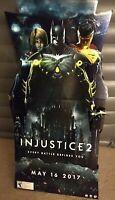 Injustice 2 Full Stand Up Promotional Display / Batman Superman Supergirl / RARE