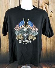 Sturgis Motorcycle America Sturgis South Dakota 2009 Rally Large T Shirt LARGE