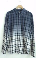 BOSS ORANGE HUGO BOSS Mens Blue White Yellow Plaid Ombre Button Down Shirt Sz XL