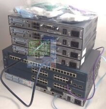 CISCO LAB SWITCH 4x 1841, 2x 3560, 2950T, 2650XM, 8x WIC-1T/CABLES LATEST IOS 15