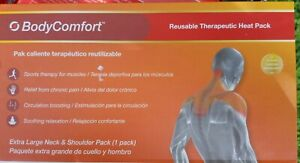 Body Comfort Heat 1 pack Reuseable Therapeutic Pain Relief Neck & Shoulder Large