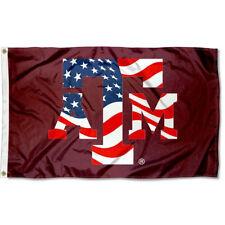 Texas A&M Aggies USA Flag Patriotic Flag Large 3x5