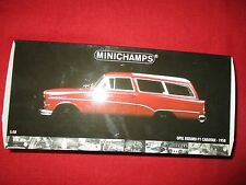 "MINICHAMPS® 180 043211 1:18 Opel Rekord P1 ""Caravan"" red 1958 - rot NEU OVP"