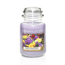 ☆☆WILD PANSIES☆☆ LARGE YANKEE CANDLE JAR~FREE SHIPPING☆☆GREAT FLORAL SCENT