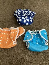 New ListingLot Of Thirsties Reusable Cloth Diaper Cover Size Two Orange Blue Whale Exc!