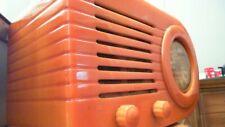New Listing1945 art deco Catalina Fada Bullet radio 1,000 butterscotch, all original