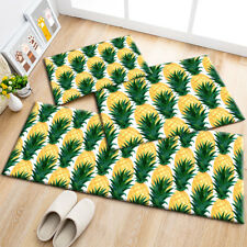 Watercolor Tropical Fruits Pineapple Pattern Area Rugs Living Room Floor Mat Rug