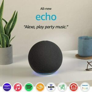 All-new Echo 4th Generation With premium sound smart home hub & Alexa - Charcoal