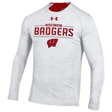 Wisconsin Badgers Under Armour Men's NCAA Flawless Long Sleeve, Large, NWT