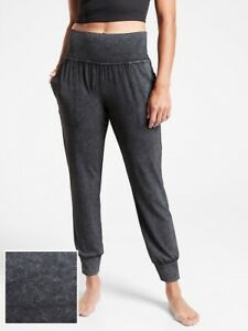 ATHLETA Salutation Garment Dye Jogger Pant 1 X 1X PLUS  BLACK NWT   #598769
