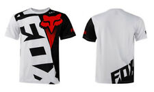 white&red Fox T-shirt Premium Tshirt Basic Fox Tee Hurley Moto Cross Racing Mens