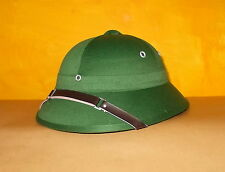 Tropenhelm Pith Helmet Dschungelhut Tropenhut Safarihelm Grün Army BW Vietcong